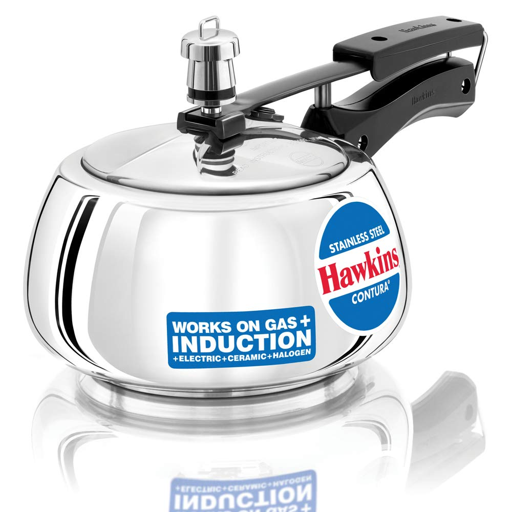 Hawkins Stainless Steel Contura 2 L Induction Bottom Pressure Cooker