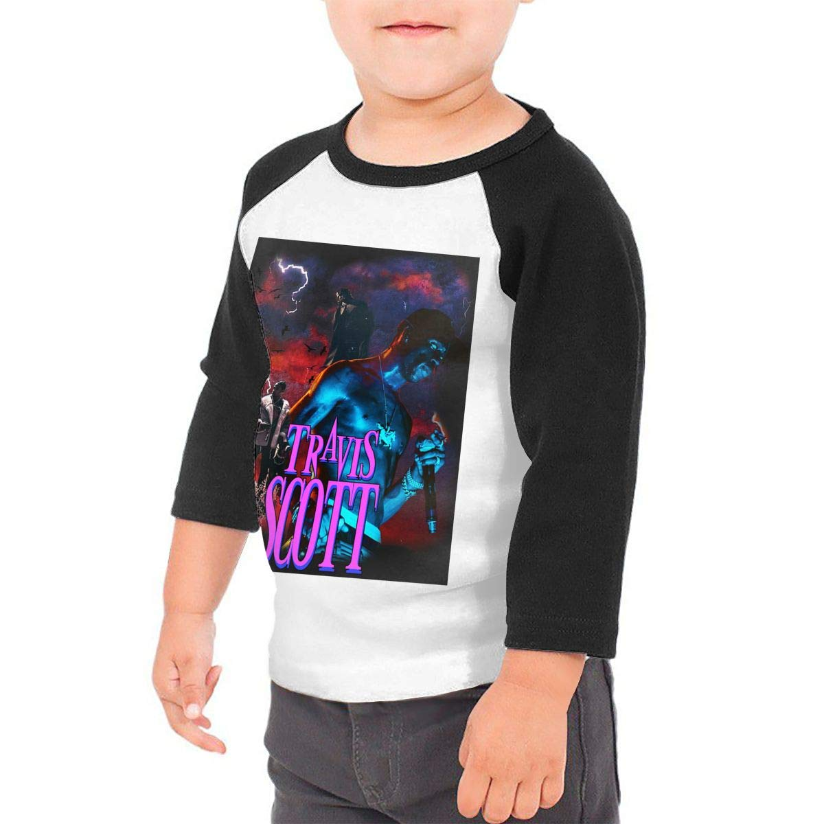 Black6Red TheHorrors Childrens 3//4 Sleeve T-Shirt