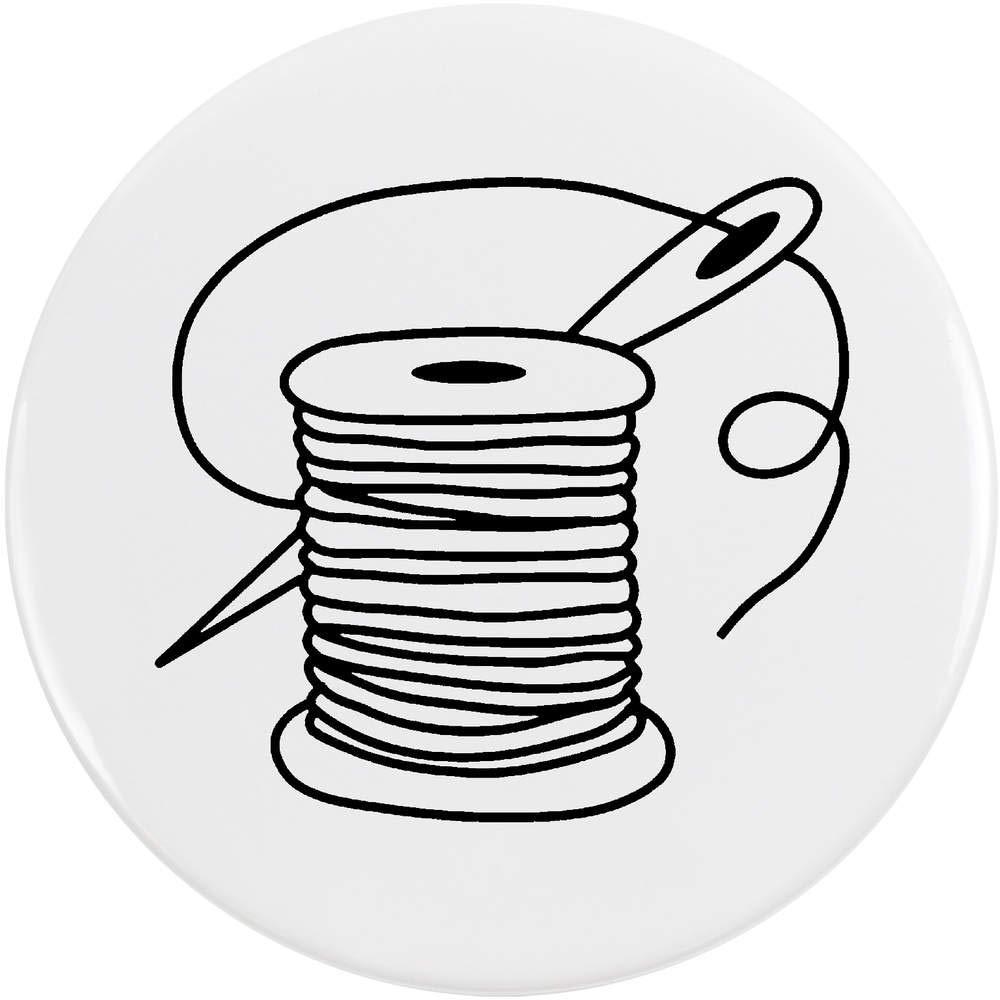 Azeeda 77mm 'Aiguille et Fil' Bouton de Badge (BB00045265)