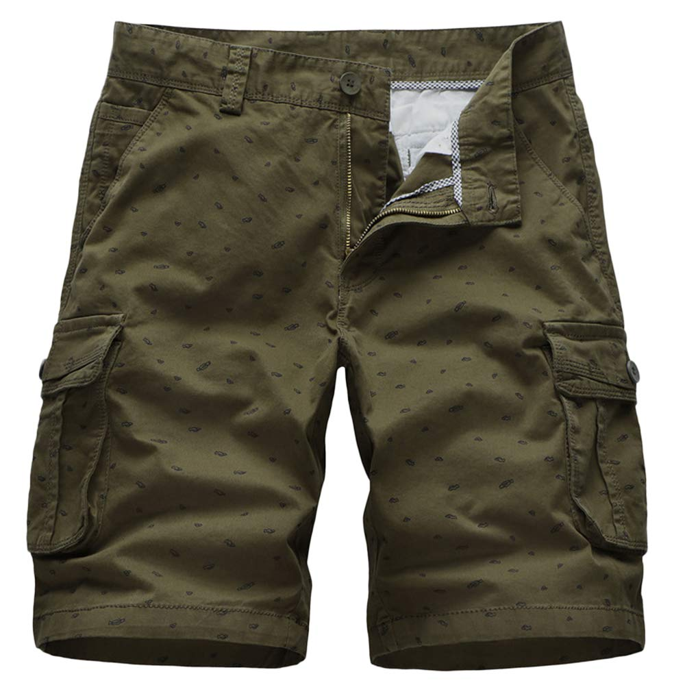 GBRALX Männlich Casual Shorts Military Style Stretch Mehrfach-Work Cargo Combat Shorts Leichte Outdoor Surf Vacation Beach Shorts