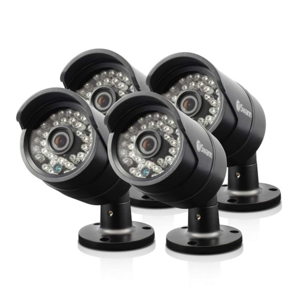 Swann SRPRO-815WB4-CL-PB-R 1080p Day//Night Security Camera 4 Pack