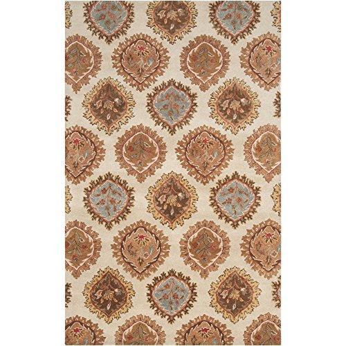 Price comparison product image Surya Langley LAG-1011 Classic Hand Tufted 100% Wool Khaki 9' x 13' Paisleys and Damasks Area Rug