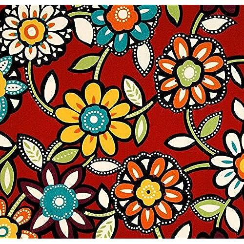 Red Yellow White Fabric: Amazon.com