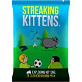 Streaking Kittens Expansion Set - A Russian Roulette Card Game, Easy Family-Friendly Party Games - Card Games for Adults, Tee