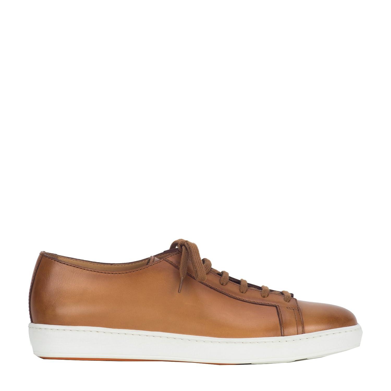 Santoni メンズ MBCN14387BA6LB0NC42 ブラウン 革 運動靴 B07CQ72GXL