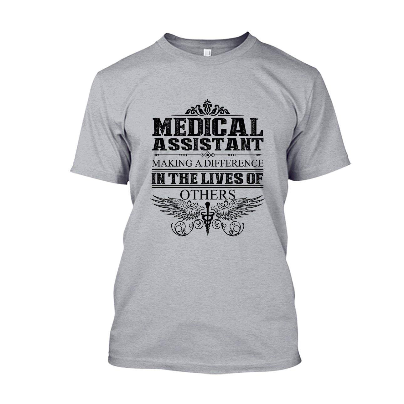 Are Blue Medical Assistants Make A Difference T Shirt Design Long