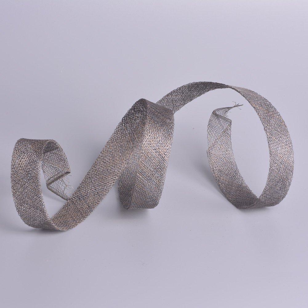 Black 1.1 Yard Sinamay Ribbon Bias Binding for Hat Fascinator Craft use B083