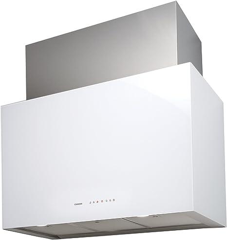 Nodor CUBE GLASS 900 De pared Blanco 790m³/h - Campana (790 m³/h, Canalizado, 49 dB, 63 dB, De pared, Blanco): 446.71: Amazon.es: Grandes electrodomésticos