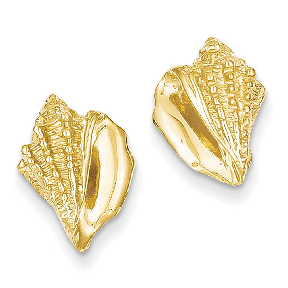 Lex /& Lu 14k Yellow Gold Conch Shell Earrings