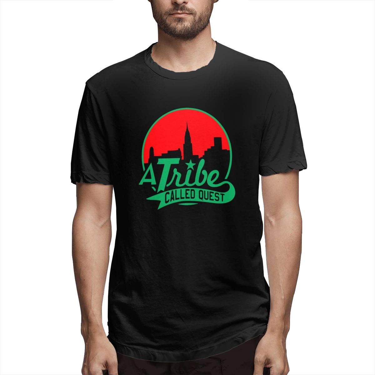 Linqarcon Mens Design with A Tribe Called Quest Logo School Round Neck Short Sleeve Tee