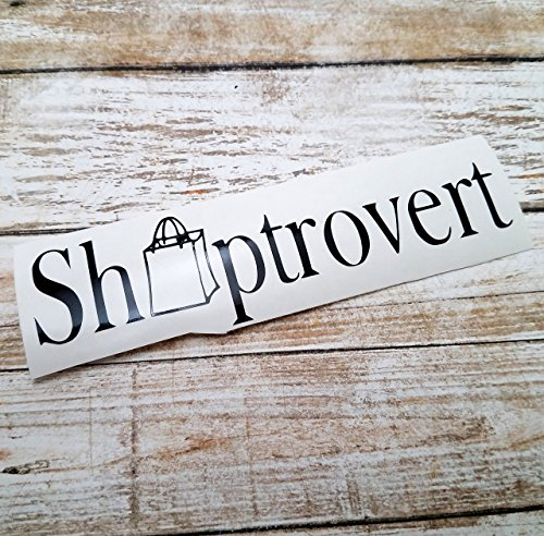 [Shoptrovert Vinyl Decal Sticker for Shoppers Extreme Couponing for use on Car Truck Laptop] (Mail Order Bride Adult Costumes)