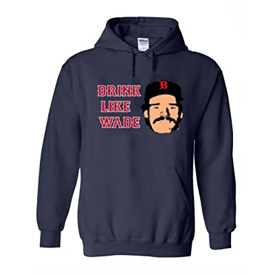 "The Silo NAVY Boston Wade Boggs ""Drink Like Wade New"" Hooded Sweatshirt"