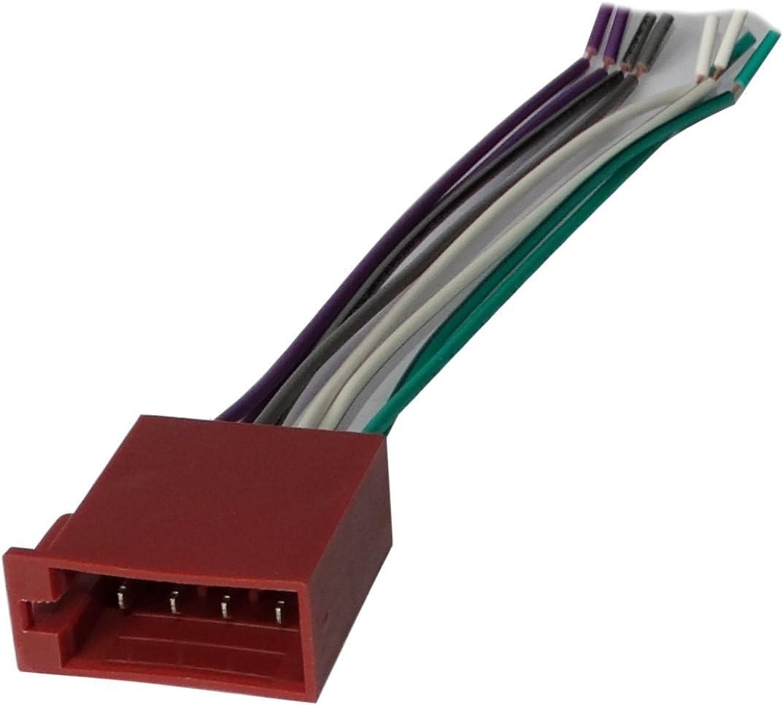 Aerzetix Connecteur fiche ISO 8PIN x2 pour autoradio pr/éc/âbl/ée faisceau universel alimentation+son haut parleurs enceintes 16PIN