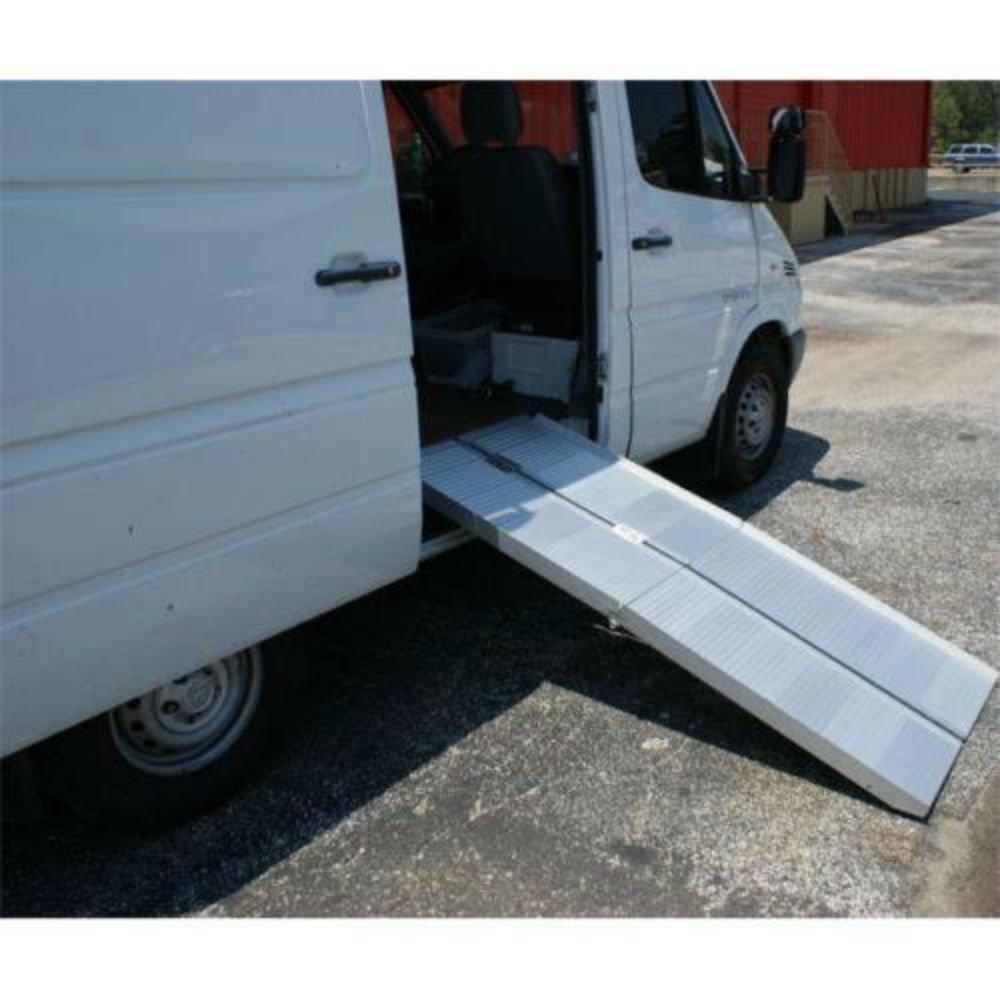 6 ' Portable Aluminum Wheelchair Loading Ramp: folding ft foot 5 7 scooter fold
