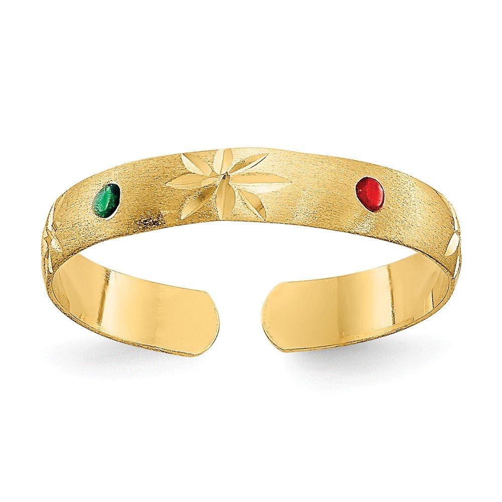 Flower Toe Ring in 14 Karat Gold