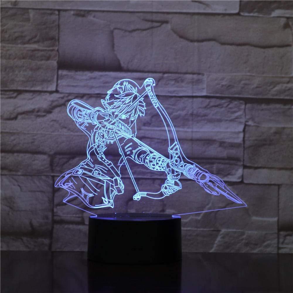 3D Illusion Table Lamp Zelda LED Lighting The Legend of Zeldass Action Figure Link Zelda Breath of The Wild Night Light Jiren