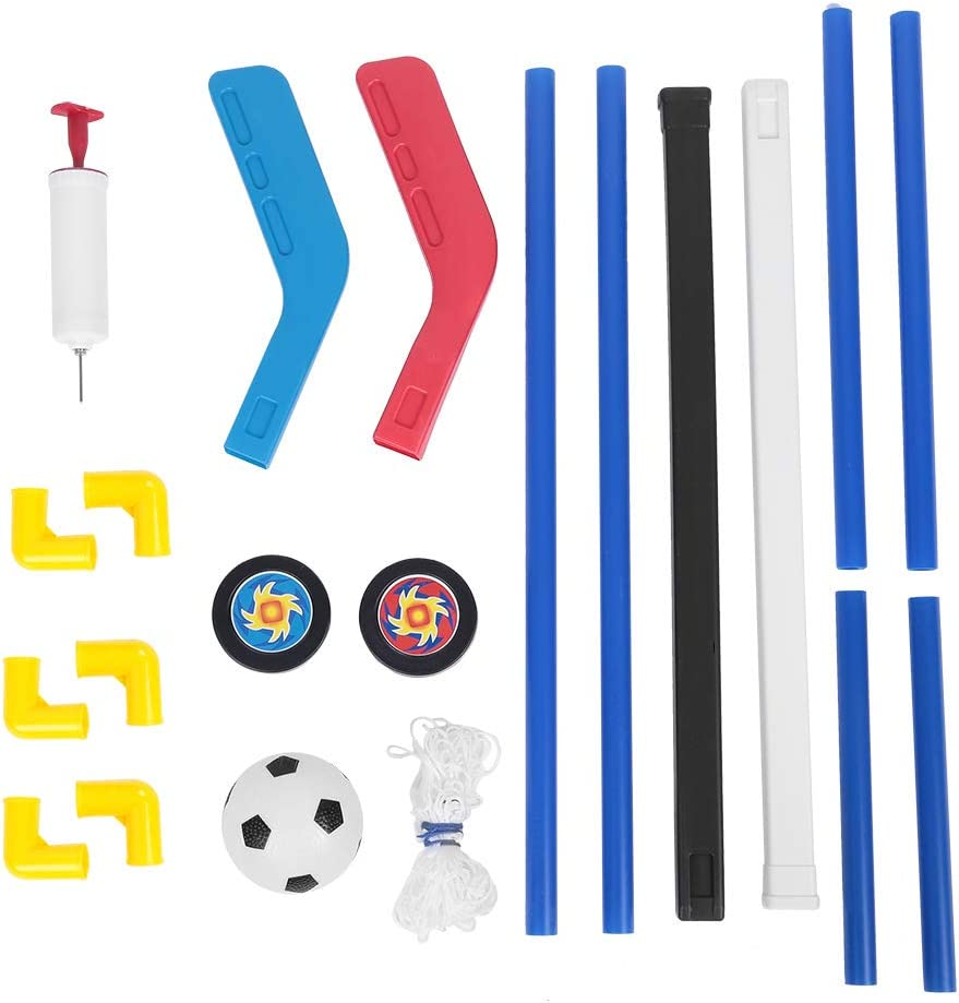 Alomejor – Juego de juguetes de fútbol 2 en 1 con 2 porterías, hinchable, para interior y exterior