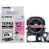 キングジム テープカートリッジ テプラPRO マグネットテープ 12mm ピンク SJ12P