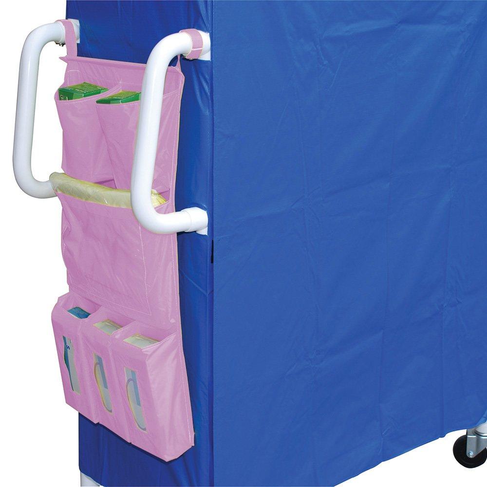 MJM International 300-IC Cart Accessory Bag, 26'' Height x 17.5'' Length, Royal Blue/Forest Green/Mauve