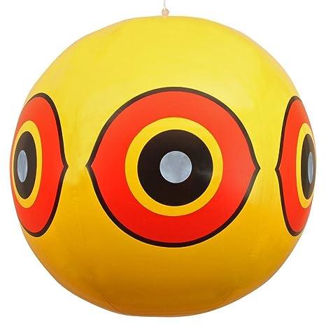 BIRD-X Giant Scare Eye- (Yellow) Predator Decoy: 3D Baloons for Outdoor Bird Control for Garden, Sweeming Pools, Orchidsby BIRD-X USA