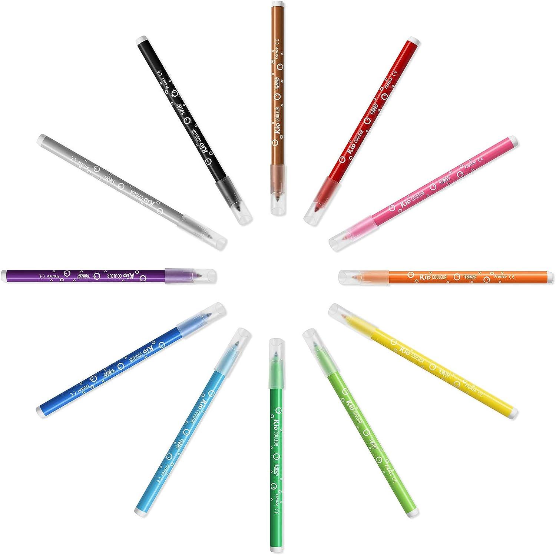 BIC Colouring Pens, Rotuladores Punta Media, 12 rotuladores, Multicolor: Amazon.es: Oficina y papelería