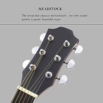 Guitarra 40 \Perilla entreabierta de Sapele para que los amantes ...