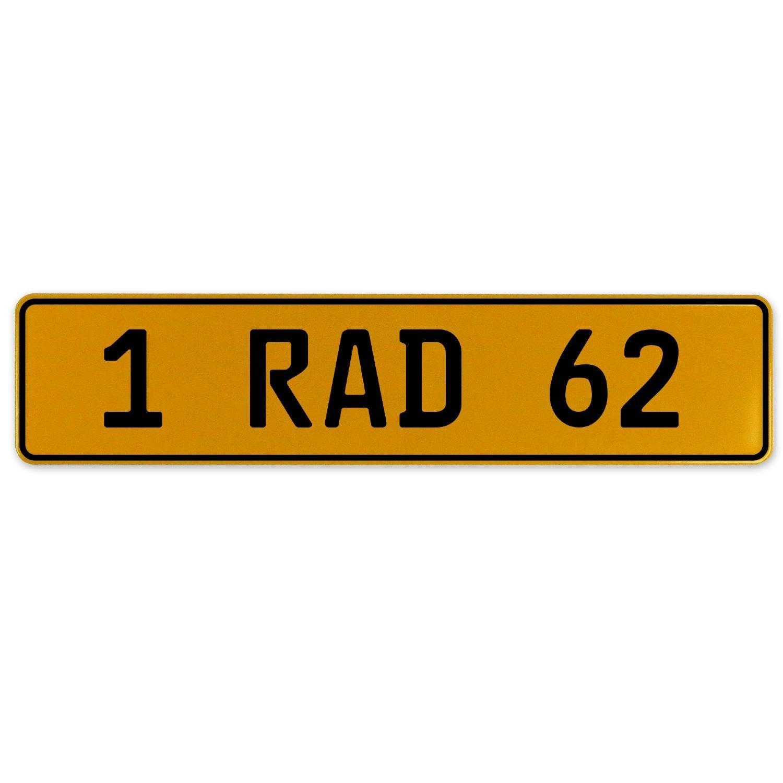 1 RAD 62 Vintage Parts 559114 Yellow Stamped Aluminum European Plate