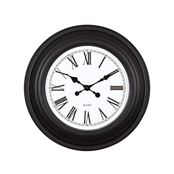 Aoligei Oficina plástico de Pared Reloj Digital Retro Antiguo Europeo Creativo Reloj DE 20 Pulgadas El
