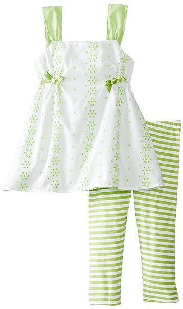 df38ab4ae A.B.S by Allen Schwartz - Conjunto - Paisley - Manga corta - para bebé niña  Verde verde lima 18 meses: Amazon.es: Ropa y accesorios