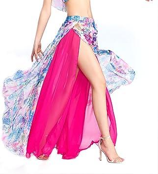 ROYAL SMEELA Falda de Danza del Vientre de Mujer Niñas Hot Pink ...