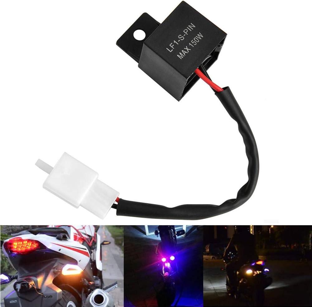 qiorange de 2/polos 12/V Auto Moto de LED de direcci/ón delanteros blinkfr equenzkon Troll de rel/é Shin Yo/ /Rel/é intermitente tipo A 1pcs