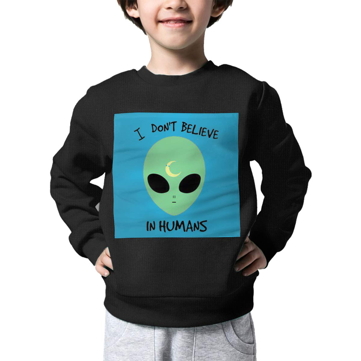 Rainbowhug UFO Alien Kids Sweater Cool Warm Sweater Toddler for Girls Boys