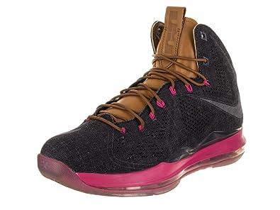 separation shoes d7316 515cd Nike 597806-400 Men Lebron X EXT Denim QS Midnight Navy Hazelnut FIREBER