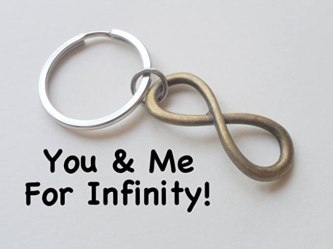 Amazon.com: Bronce Infinito Símbolo Llavero – You And Me ...
