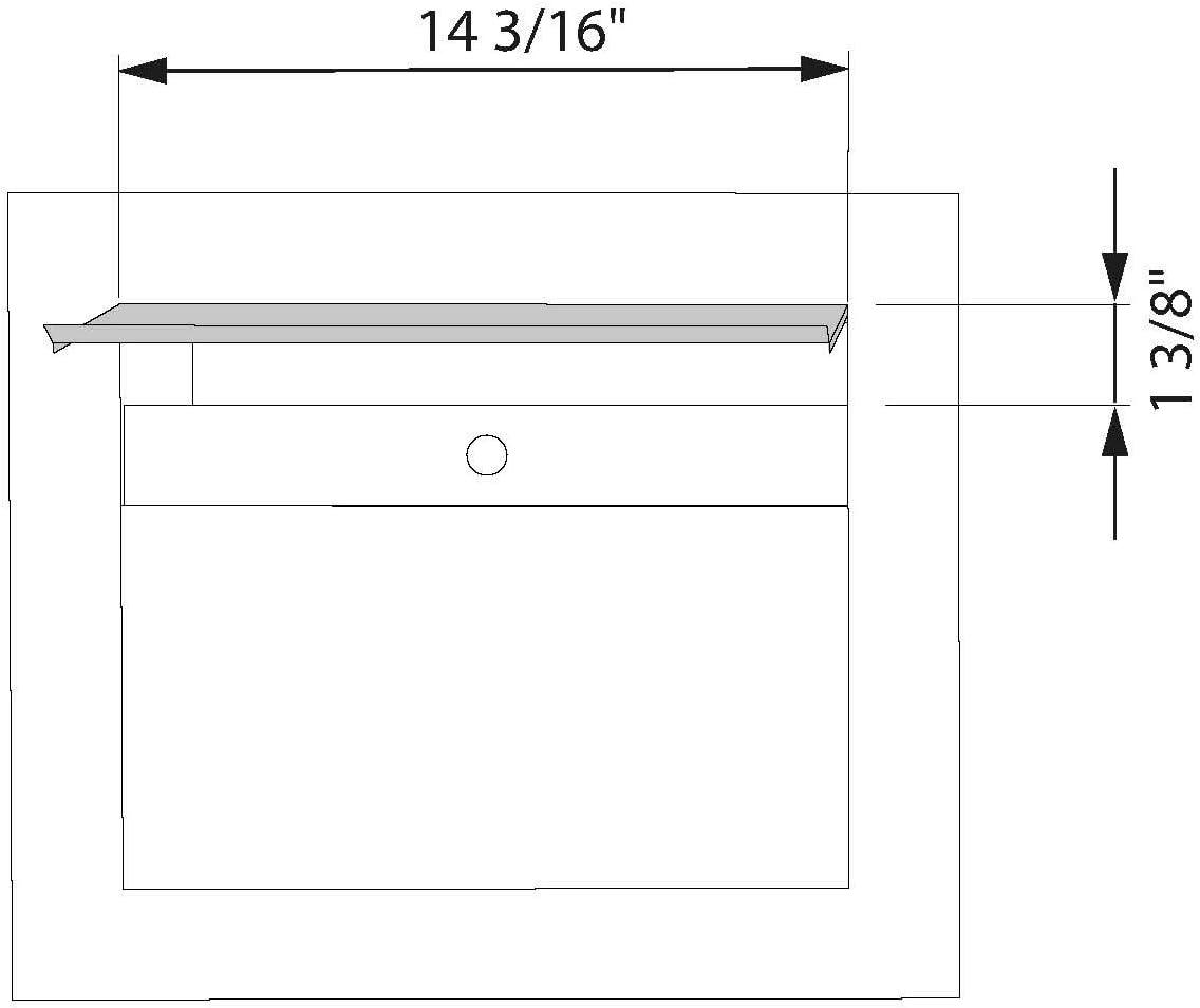 Contemporary SORA Built-in Designer Mailbox in Stainless Steel