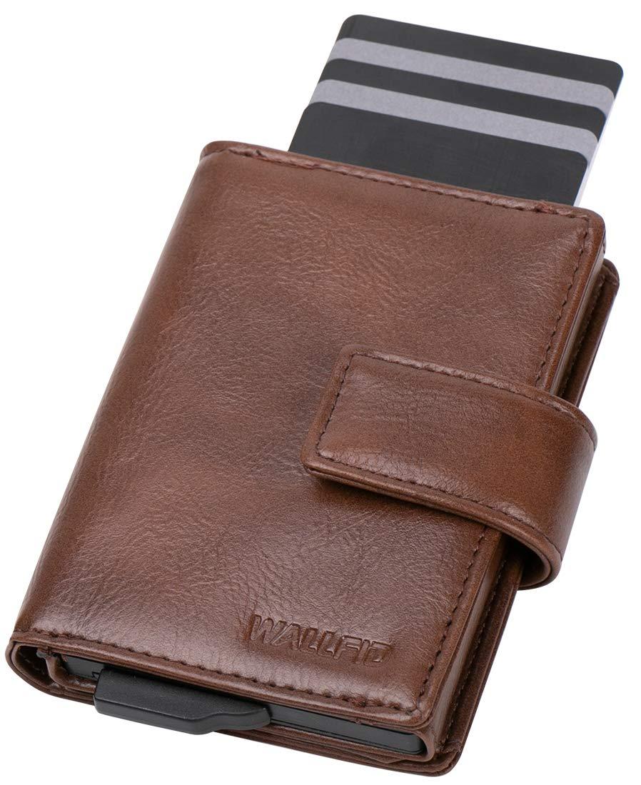 RFID Card Holder RFID Blocking Card Wallets Mens,Bifold RFID Wallets for Men 12