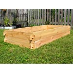 Timberlane Gardens Raised Bed Kit Double Deep, Western Red Cedar Mortise Tenon Joinery, 3' W x 6' L 9 Raised garden bed kit proudly made in homer glen, Illinois USA Constructed of select western red cedar Handcrafted mortise & tenon joinery