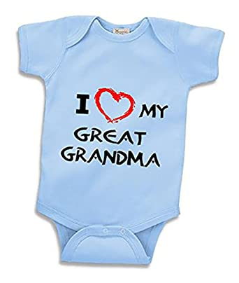 ba3057880dc Amazon.com  Southern Designs I Love My Great Grandma Infant Bodysuit Baby  Clothes  Clothing