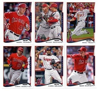 Amazoncom 2014 Los Angeles Angels Baseball Cards Team Set Lot 5