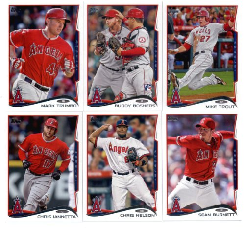 2010,2011,2012,2013 & 2014 Topps Los Angeles Angels Baseball Card Team Sets (Complete Series 1 & 2 From All Five Years )