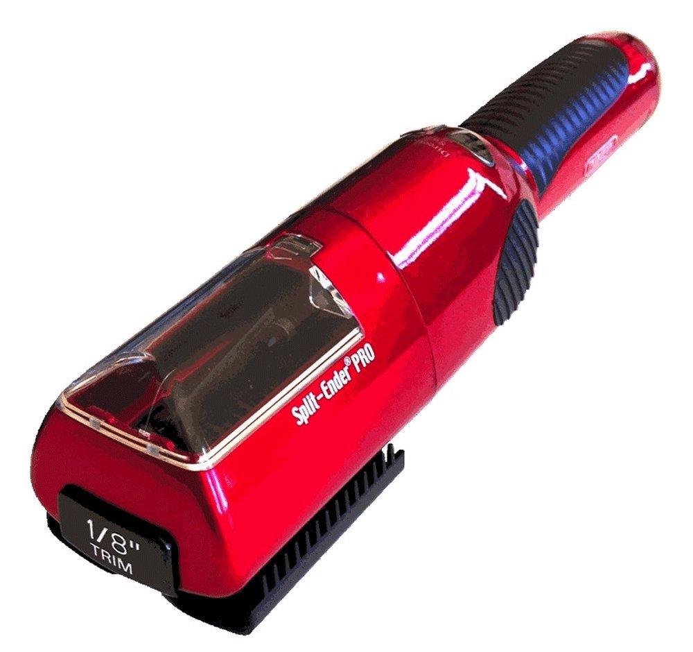 Split Ender Pro Cordless Split End and Damaged Hair Trimmer RED