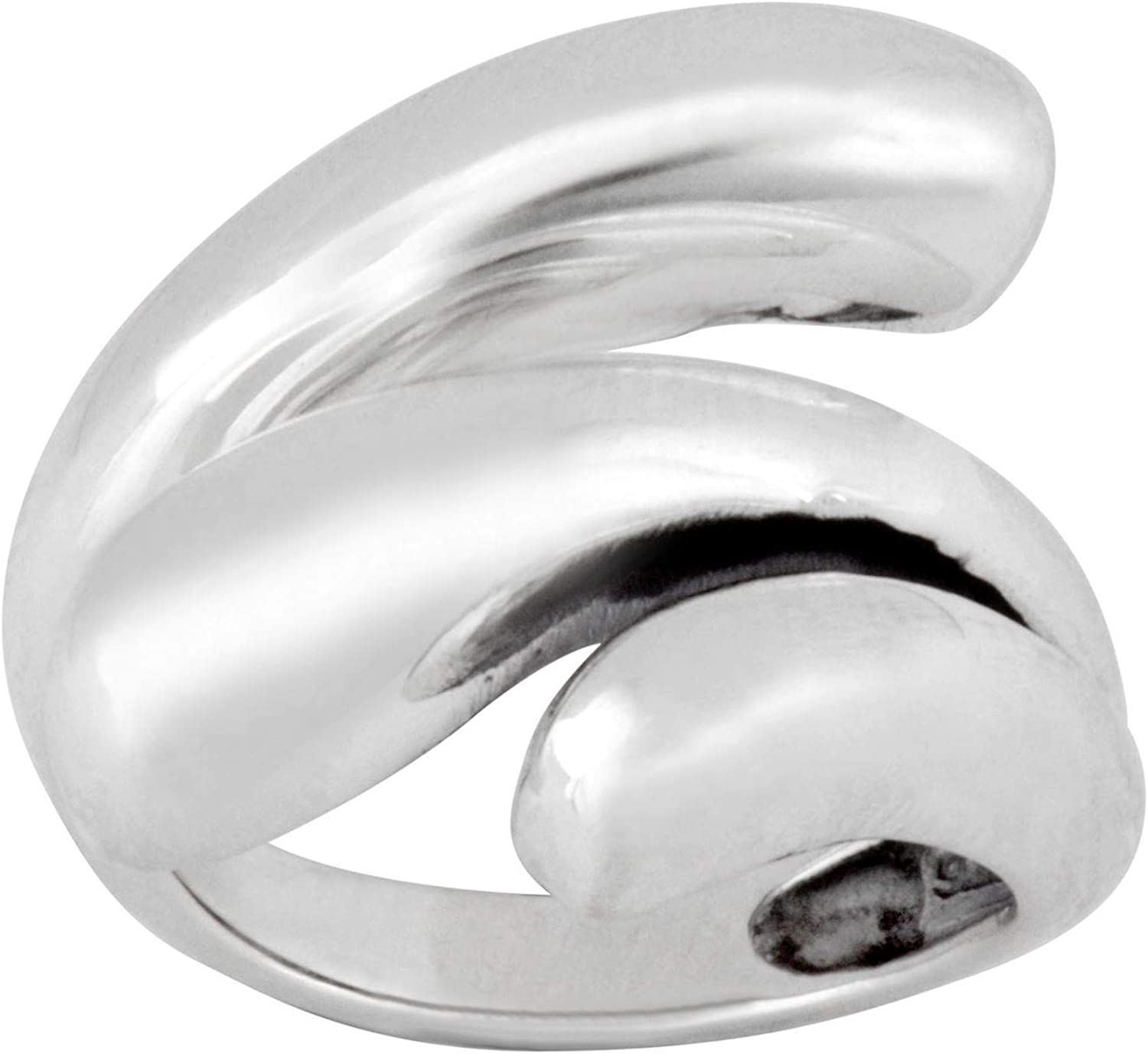 Silverly Women's .925 Sterling Silver Polished Overlap Ultra-Cheap Deals 3 Ranking TOP14 Layered