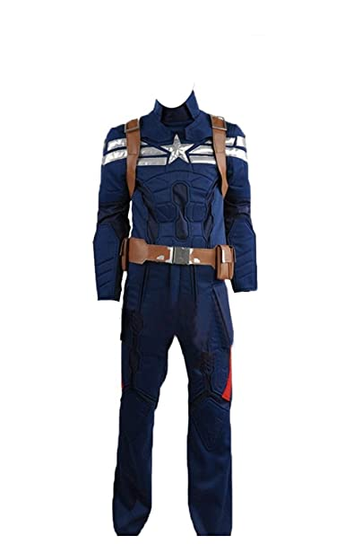Captain America 2 Le Soldat dhiver Steve Rogers couleur bleu ...