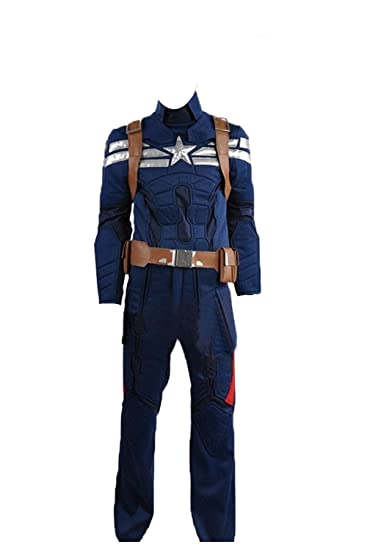 Captain America:The Winter Soldier Steve Rogers Outfit Cosplay Costume Full Set
