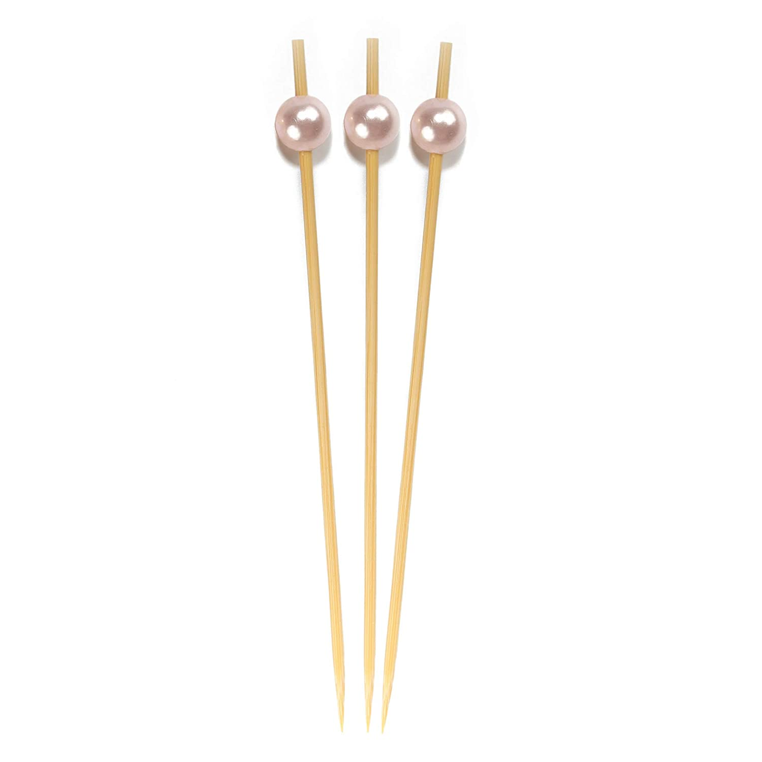 Restaurants Buffets Party Supplies 1000pcs Holiday/'s 6955114946529a Grey, Pink, White Holidays BambooMN 5.9 Decorative Pearl End Cocktail Fruit Sandwich Picks Skewers Catered Events Assort 95