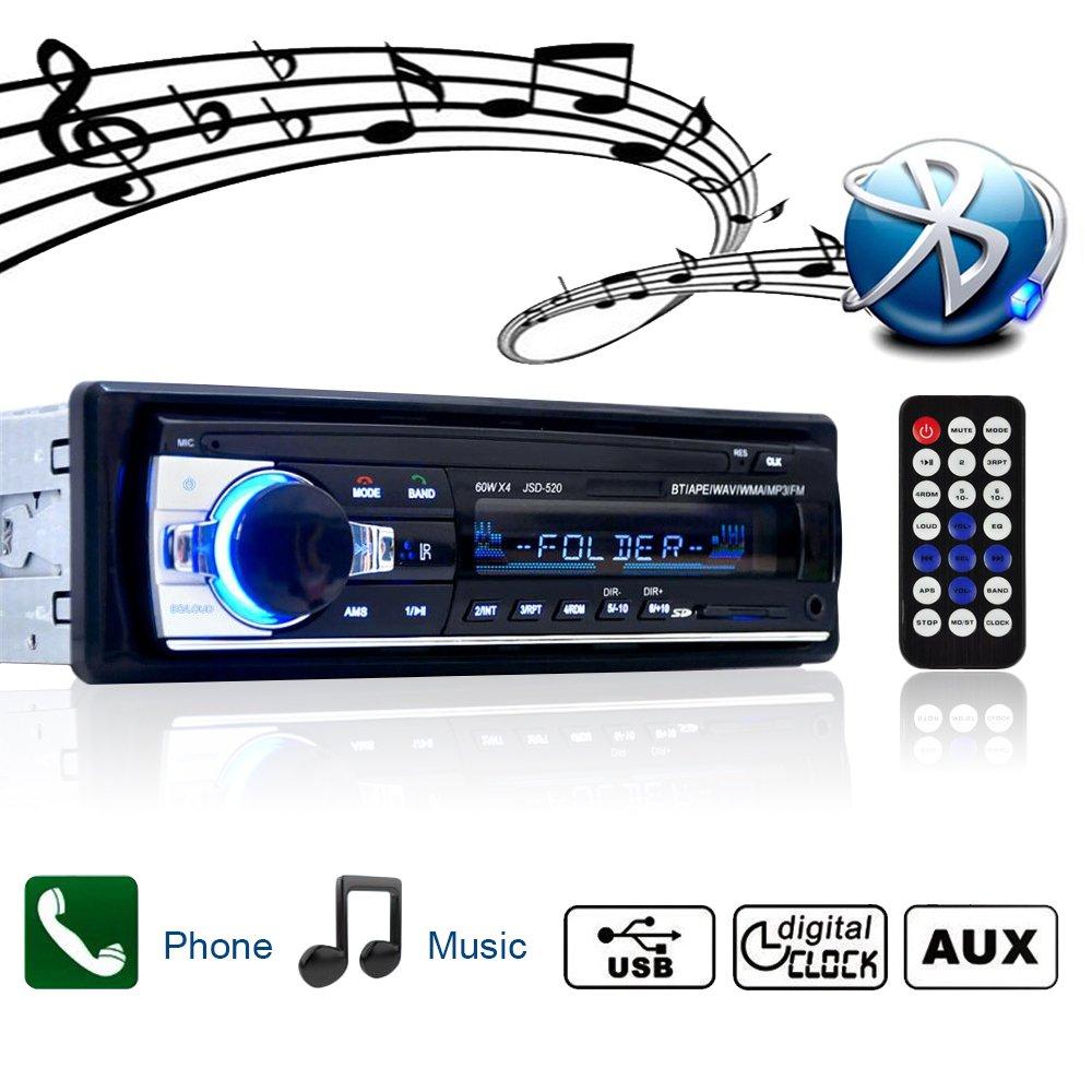 Bluetooth Radio de coche Single Din Autoradio Auto Estéreo Vídeo FM Radio