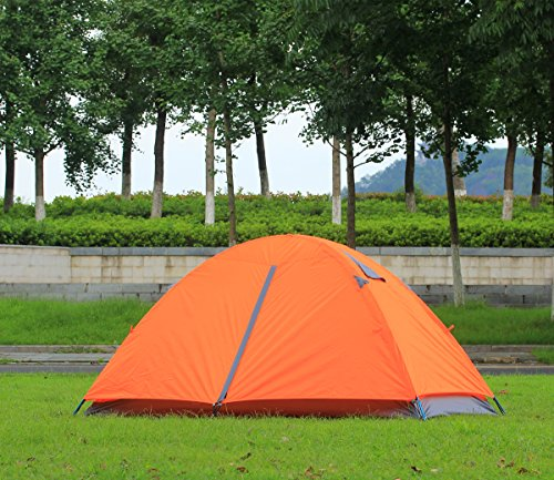 CCTRO 2 Person Camping Tent, Double Layer Waterproof Lightweight 3 Season Windproof Backpacking Tents for Camping Hiking Traveling with Zippered Door and Carrying Bag