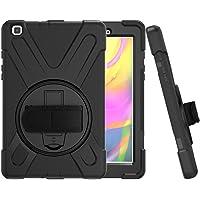 CCMAO Funda para Galaxy Tab A 8.0 2019, SM-T290/T295, [correa de mano] 360 grados soporte giratorio de cuerpo completo…