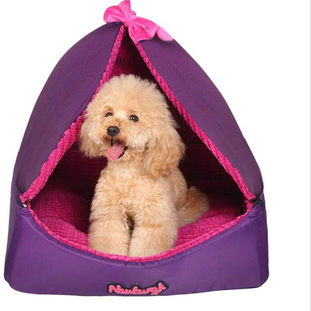Large H.ZHOU Dogs and Cats Bed Liners & Mats Dog House Removable Washable Cat House Pet Supplies Small Dogs Seasons Pet House (Size   L)