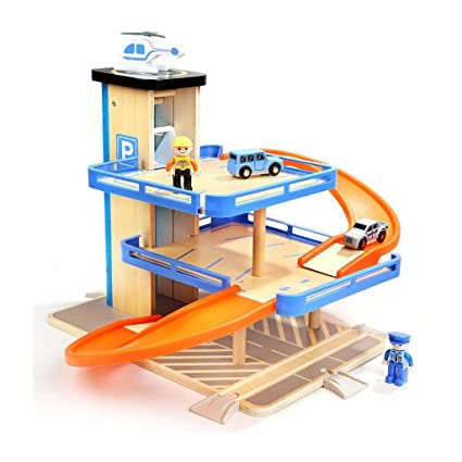 Siyushop Toddler Toys Race Track for 1 6 Year Old Boy Gifts Wooden Car Ramp Racer